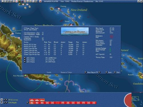 Dati dettagliati sui mezzi navali: la portaerei giapponese Kaga