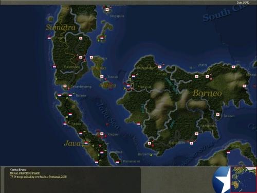 Le forze nipponiche sbarcano nottetempo in Borneo