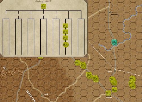 Desert Storm 1991: dettaglio dei 3 reggimenti e del quartier generale che formano l'82esima divisione aviotrasportata americana.