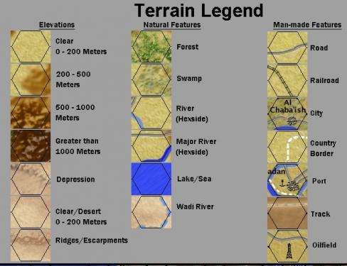 mappa dei terreni, dedicata a tutti coloro che pensano che sia un gioco di battaglie nel deserto.