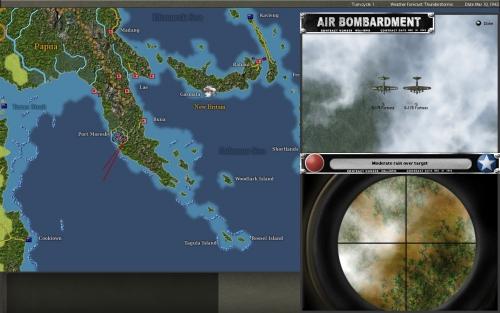 Fortezze statunitensi attaccano le posizioni occupate dalle truppe nipponiche a Port Moresby