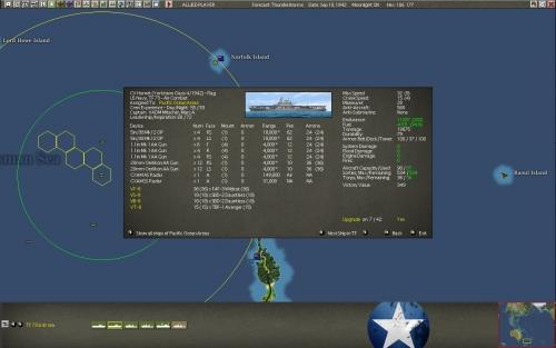 La Hornet in navigazione a largo della Nuova Zelanda.