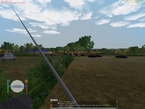 Colonna di carri tedeschi pronta a partire