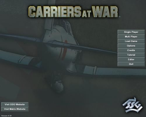 La schermata iniziale del gioco, con le classiche opzioni a disposizione del giocatore.