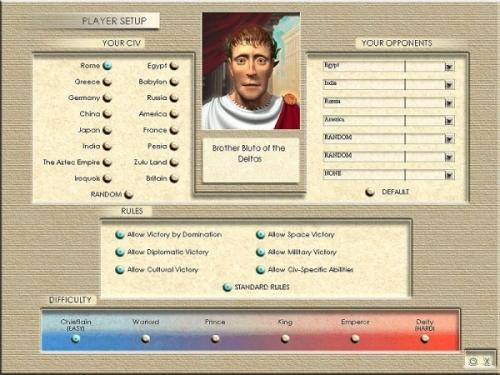 Le opzioni di inizio partita sono molte e determinanti: in questa schermata