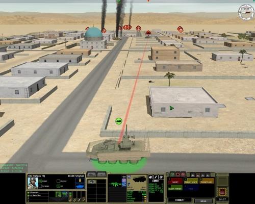 Duello tra uno Stryker MGS (Mobile Gun System) e un T-72. In questo caso abbiamo una sola chance, la nostra corazza non può reggere l'impatto di un colpo di cannone. A questa distanza la corazza laterale del siriano dovrebbe cedere. Dovrebbe...
