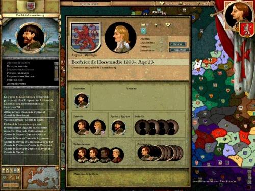 Beatrice di Normandia. La cicogna alla base del ritratto indica che aspetta un bambino... nascerà un erede per il Ducato del Lussemburgo?