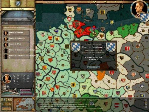 Possedere o controllare dei territori puo' permettere di creare un nuovo titolo, nello specifico il titolo di duca di Pomerania.