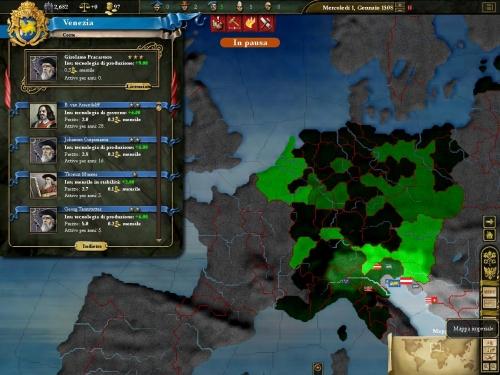 Scelta della corte e la mappa dell'impero.