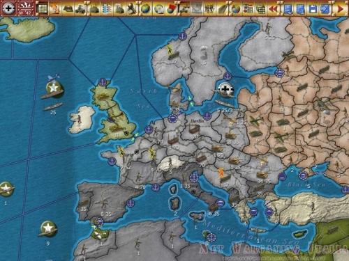 La mappa strategica con le unità visualizzate e pronte ad essere spostate ed eventualmente a combattere.