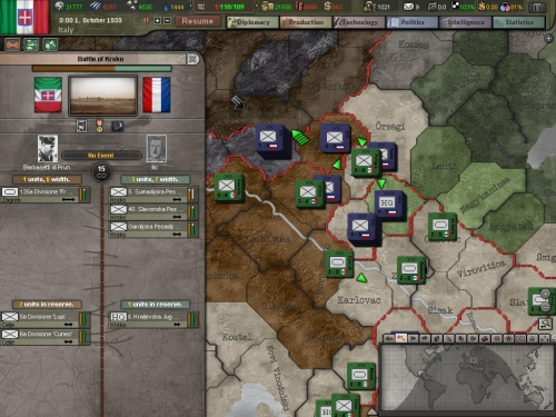 Operazioni in corso sul fronte jugoslavo