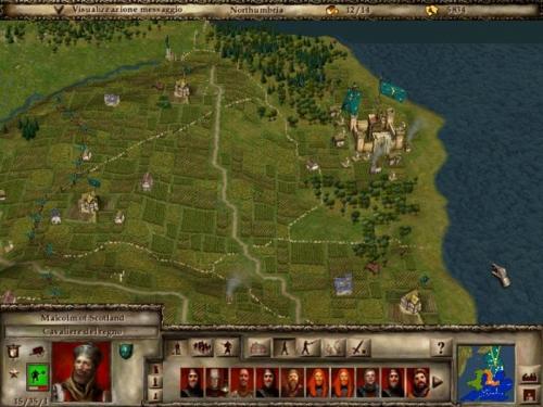 Malcolm di Scozia, cavaliere del regno ed i suoi alabardieri mi serviranno fedelmente in Northumbria (sx).