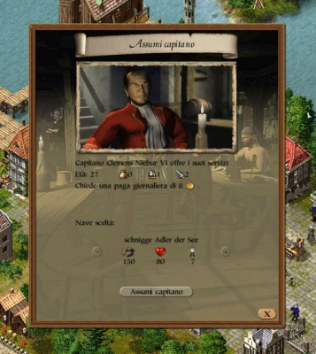 Assumere un buon capitano per le vostre navi è un fattore decisivo  per il gioco.