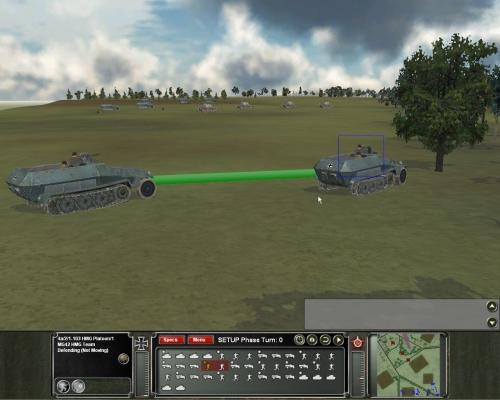 un plotone di mitraglieri MG42 trova posto su un veloce blindato tedesco