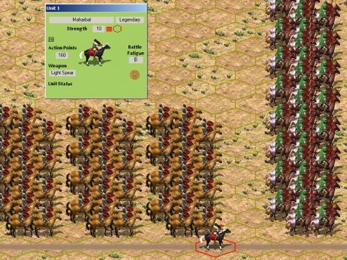 Un poderoso fianco cartaginese, pronto a tentare l'aggiramento.