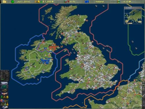La mappa satellitare con unità della Gran Bretagna e Irlanda