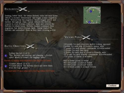 Gli obiettivi della battaglia