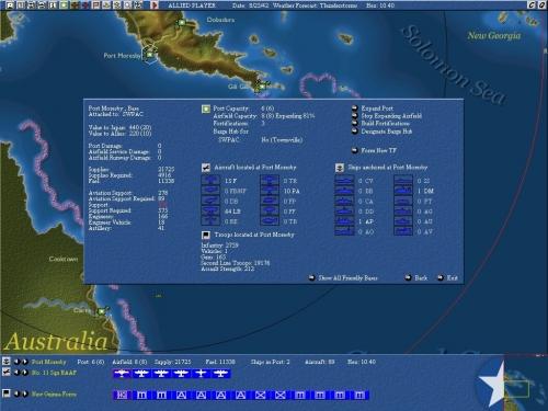 Dettagli sulla base di Port Moresby