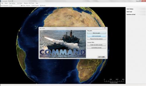 lo scarno menu introduttivo sotto il quale si intravede la bellissima mappa del gioco in stile Google Earth