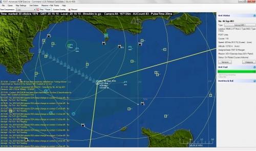 un Nimrod lancia delle boe sonar nell'area di pattugliamento definita dalla missione. Se avete uno schermo piccolino, tra log, tracce dei sensori ed icone si rischia un po' di confusione