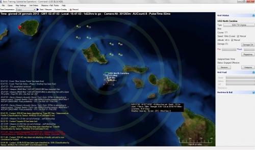presenti anche zone di convergenza e termoclini per le unità navali!