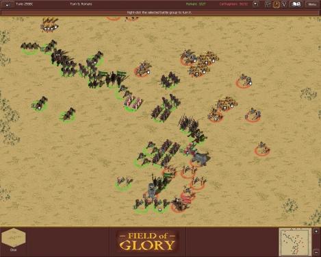 L'armata cartaginese è in rotta