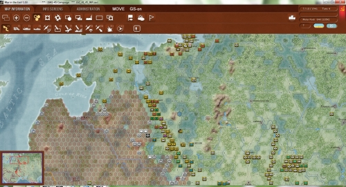 primi turni della campagna del '41. I tedeschi cercano una veloce avanzata mentre i sovietici cercano disperatamente di organizzare delle linee difensive nelle retrovie.